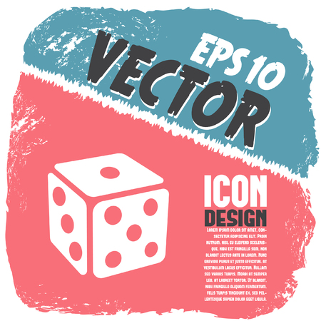 chances: gambling dice vector icon