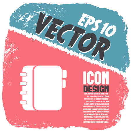 notebook page: personal organizer vector icon
