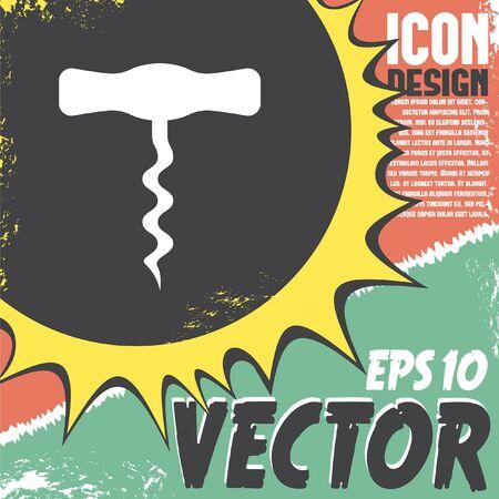 cork screw: corkscrew vector icon