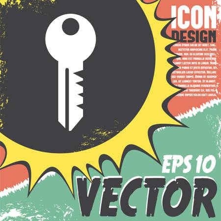 cerrar la puerta: key vector icon