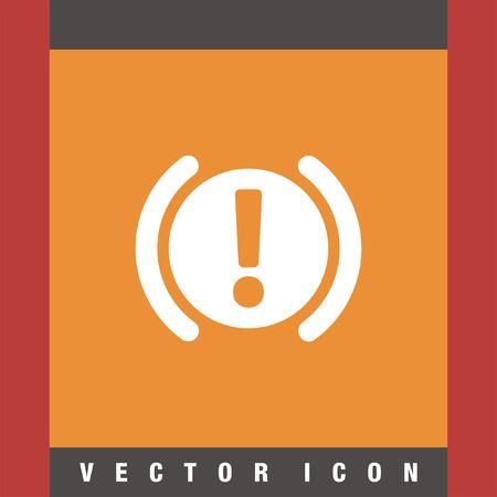 staying: car parking brake signal vector icon