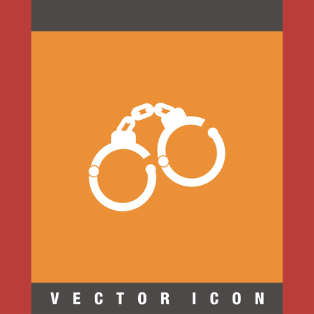 detainee: handcuffs vector icon Illustration