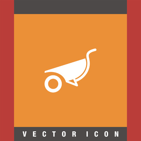 wheelbarrow: wheelbarrow vector icon
