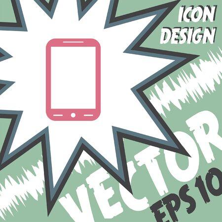 smart: smart phone vector icon Illustration