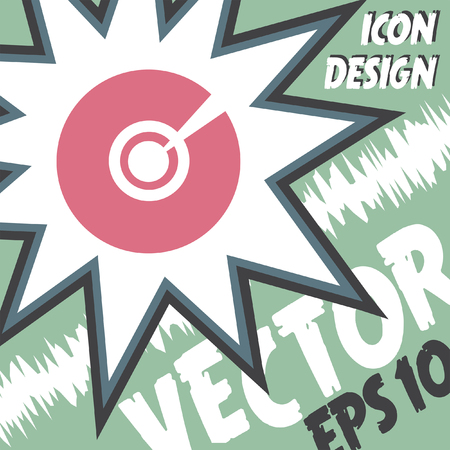 rom: cd dvd vector icon