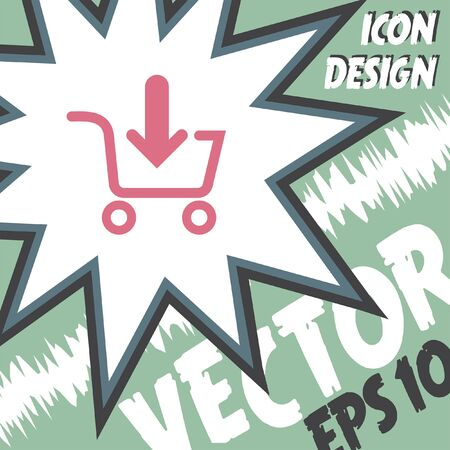 shopping cart icon: add to shopping cart vector icon