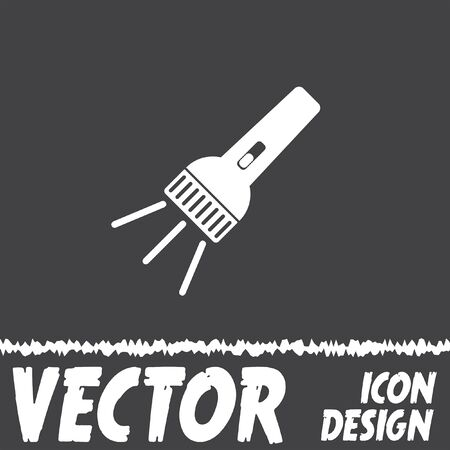 electric torch: flashlight vector icon Illustration