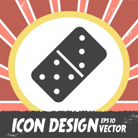 dominoes: dominoes vector icon Illustration