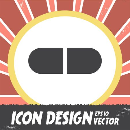 doses: pill vector icon