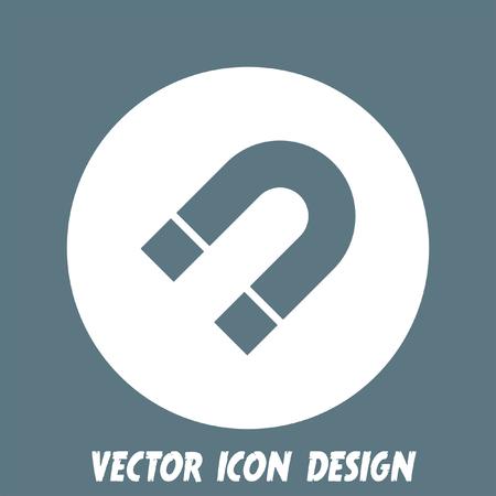 polarity: magnet vector icon Illustration