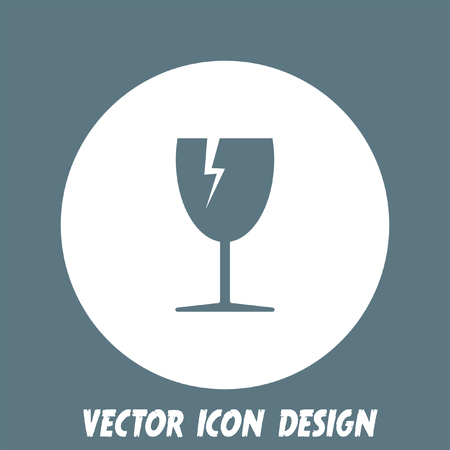fragile: fragile transport vector icon