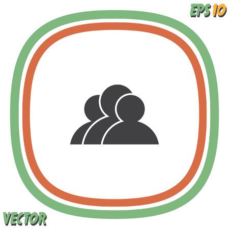 people icon: three people vector icon