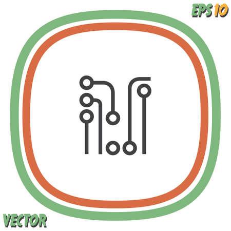 background information: circuit board vector icon