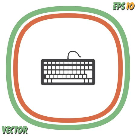 input device: keyboard vector icon Illustration