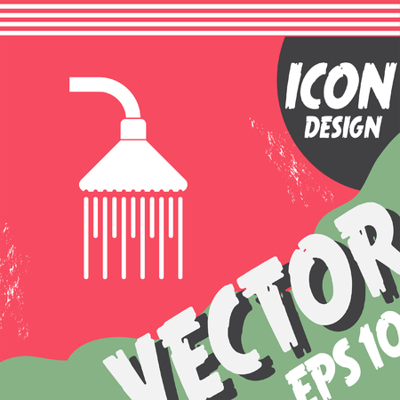 cleanliness: shower vector icon