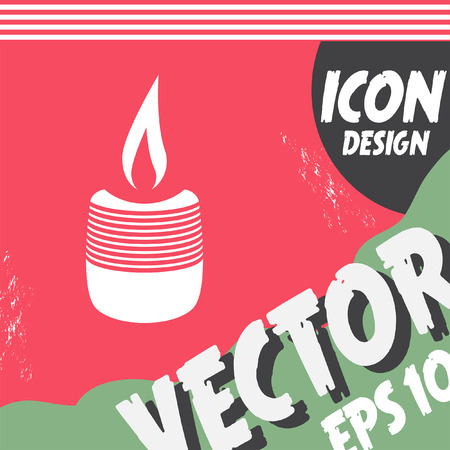 candlelight memorial: candle vector icon Illustration