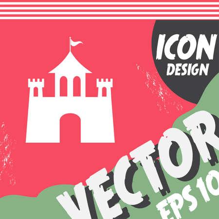 fortresses: castle vector icon