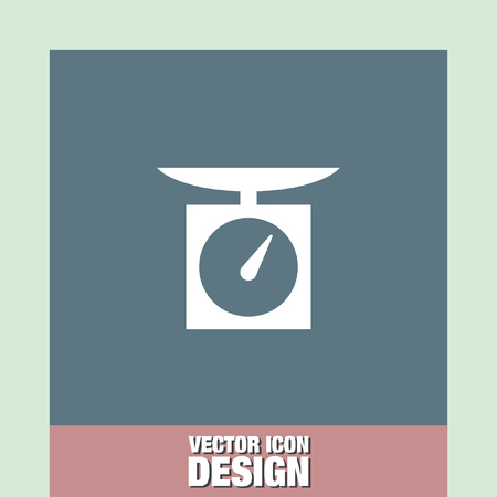 weighing scale: kitchen scales vector icon