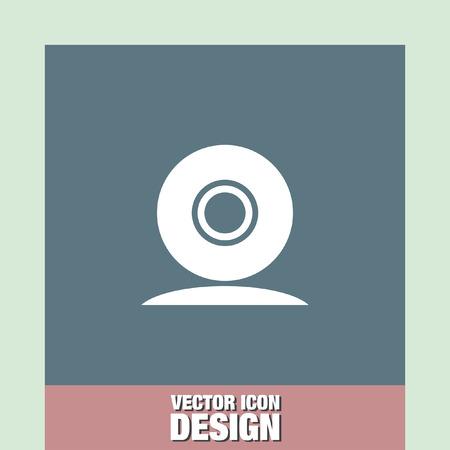 web: web cam vector icon