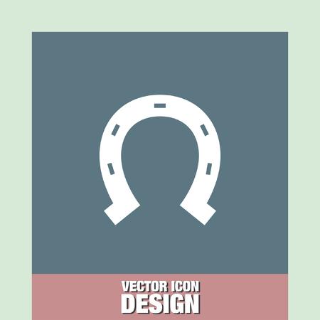 herradura: horseshoe vector icon