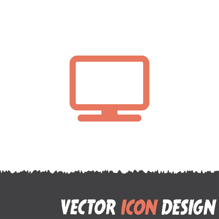 monitor: computer monitor icon Illustration