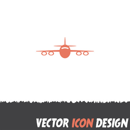 cargo transport: airplane vector icon