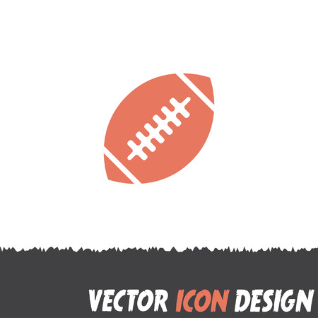 balones deportivos: americano del icono del vector de fútbol