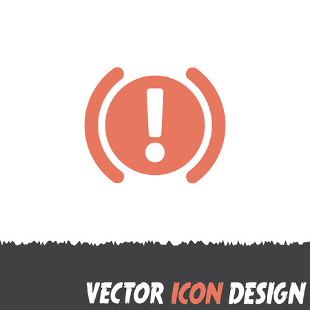 brake: car parking brake signal vector icon
