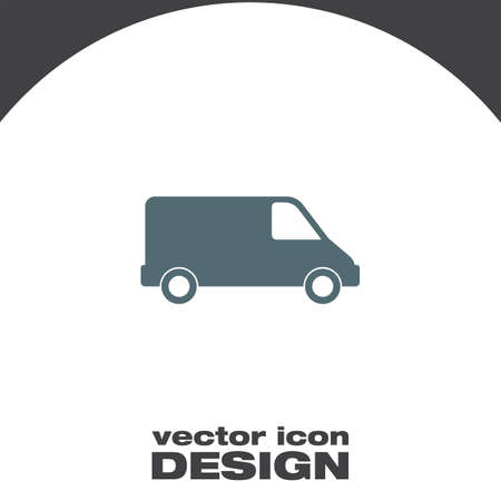commercial van: commercial van vector icon