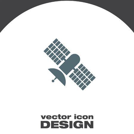 Satelliten-Vektor-Icon-