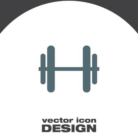 dumbell: dumbbells vector icon