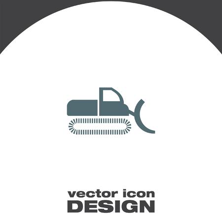excavating: dredge vector icon