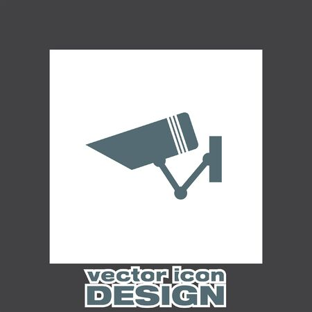surveillance camera: security surveillance camera vector icon Illustration