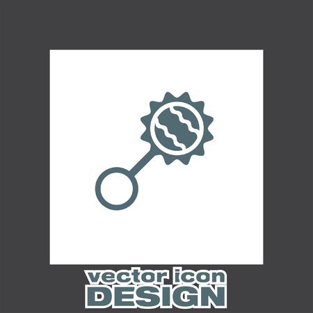 sonaja: bebé sonajero icono vectorial