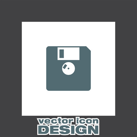 diskette: diskette vector icon Illustration