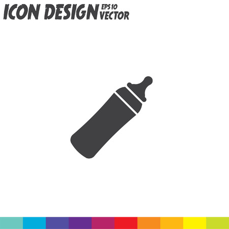 baby bottle: baby bottle vector icon