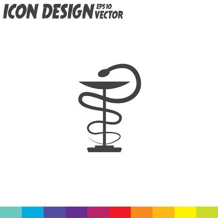 pharmacy snake symbol: pharmacy snake symbol vector icon