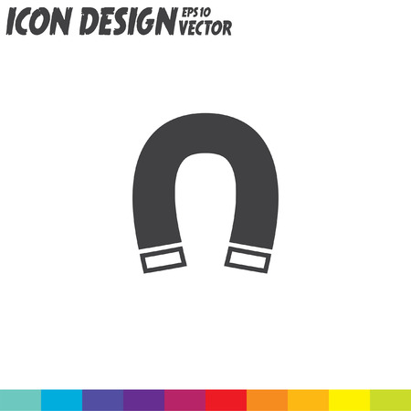 magnetismo: icono de vector imán Vectores