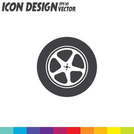 car wheel vector icon Illustration