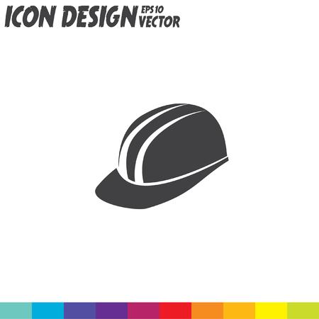 hard cap: protective helmet vector icon Illustration