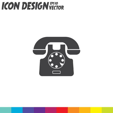 Telefonsymbol Vektor-Symbol Standard-Bild - 51454459
