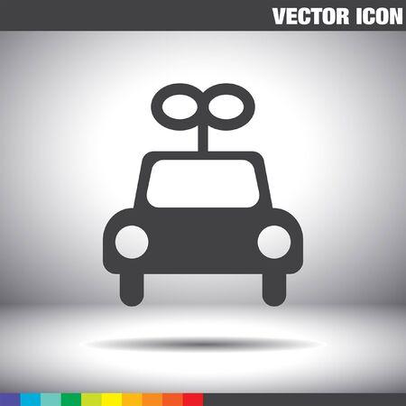 car: toy car vector icon Illustration