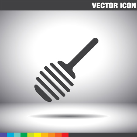 stick insect: honey spoon vector icon