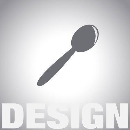 teaspoon: spoon vector icon Illustration