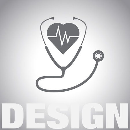 heartbeat: stethoscope with heartbeat vector icon
