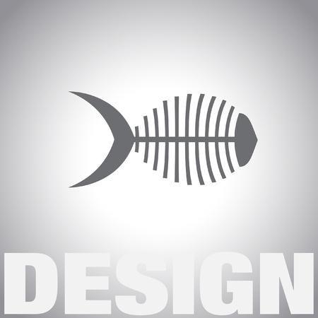 bone fish: fish bone vector icon Illustration