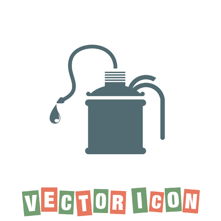 lubricant: oil can vector icon