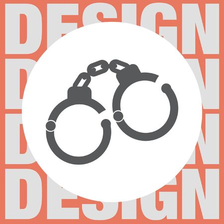 cuffs: handcuffs vector icon Illustration