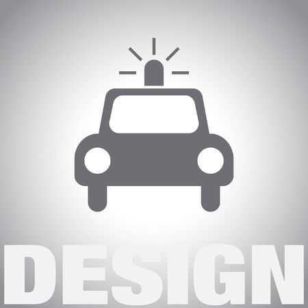 car: police car vector icon