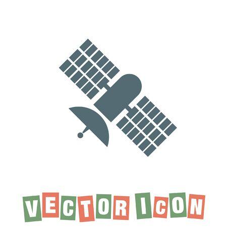 satellite in space: satellite vector icon